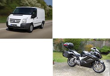 van-and-motorbike